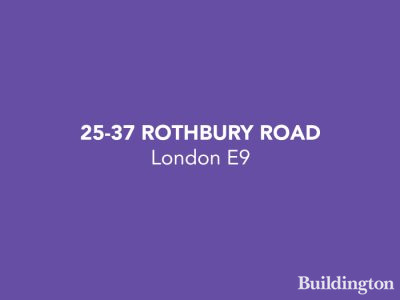 25-37 Rothbury Road development in Hackney Wick, London E9.
