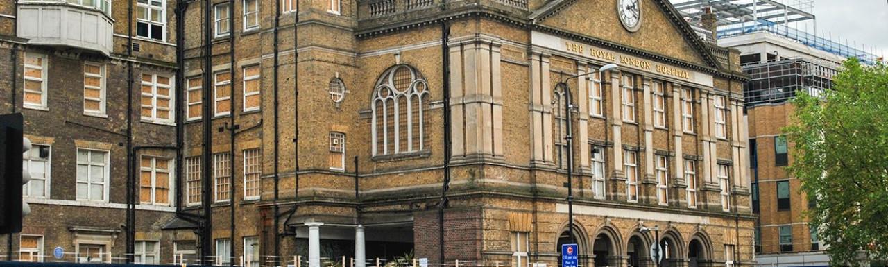 The Royal London Hospital on Whitechapel Road in 2012