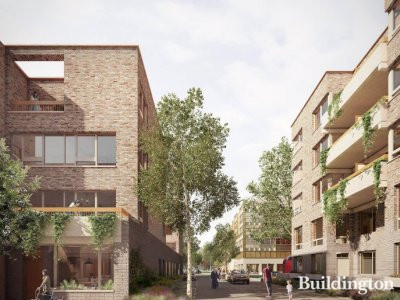 CGI of Grahame Park development in Colindale, London NW9. Screen capture from genesisha.org.uk.