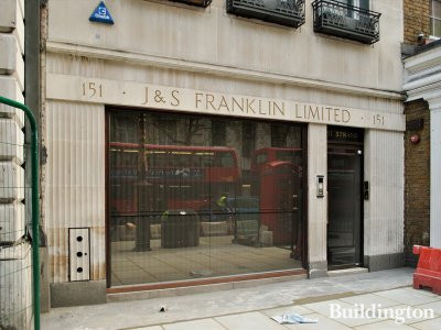 J & S Franklin Limited. Ground floor level at Franklin House at 151 Strand;