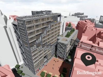 LSE Centre Building redevelopment 3D fly-through; screen capture from a video at lse.ac.uk.