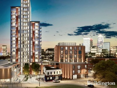 CGI of Lime Quarter development by Linden Homes in Bow, London E3.