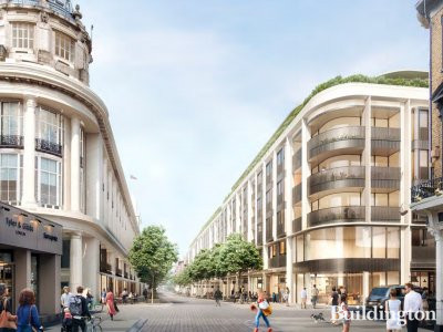 Architect Foster + Partners' visual of the planned Queensway Parade development at 114-144 Queensway and 97-113 Inverness Terrace in Bayswater, London W2. Screen capture from Design & Access statement published in December 2017 westminster.gov.uk.