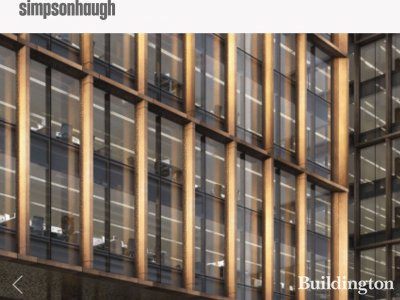 Screen capture of the new 14 Westfield Avenue office building on architect SimpsonHaugh website at simpsonhaugh.com.
