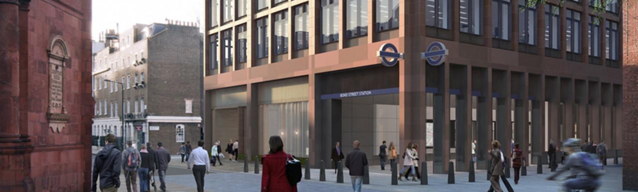 65 Davies Street office building above the Elizabeth Line's new Bond Street station in Mayfair, London W1.