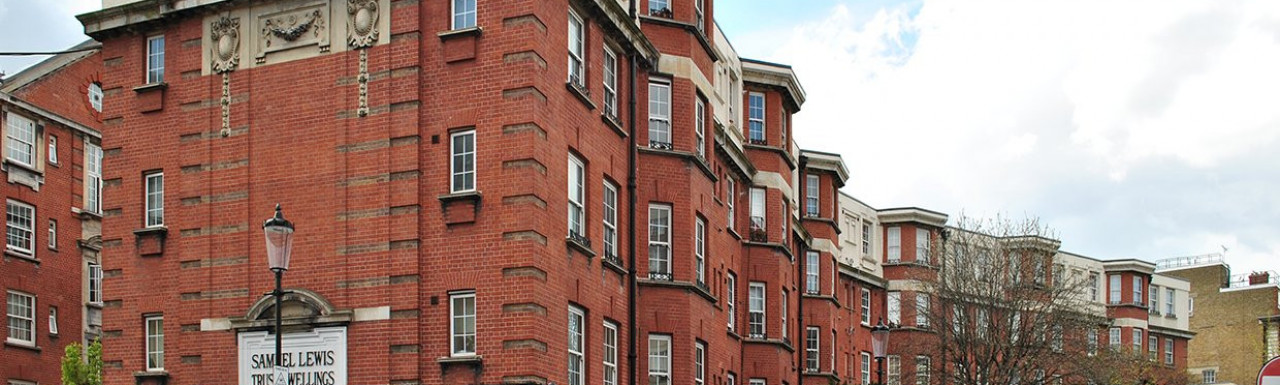 Samuel Lewis Trust Dwellings on the corner of Ixworth Place and Elystan Street in Chelsea, London SW3.
