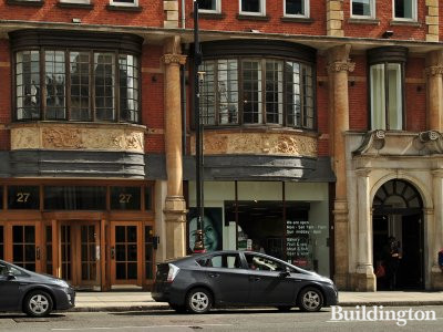 Commercial premises on the ground floor of 27-35 Mortimer Street in Fitzrovia, London W1.