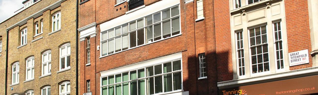 42-44 Great Titchfield Street building in Fitzrovia, London W1.