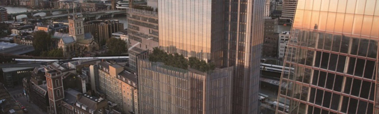 CGI of Shard Place designed by Renzo Piano; screen capture from macegroup.com