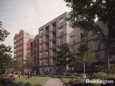CGI of the Bernard Works development designed by Duggan Morris Architects in Tottenham, London N15.