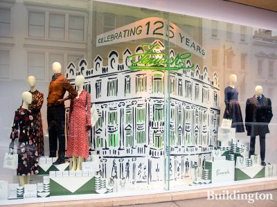 Fenwick celebrating 125 years at 63 New Bond Street, since 1891.