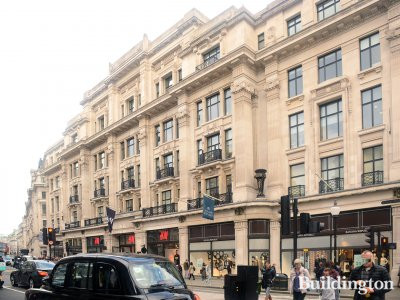 All Saints, H&M and Banana Republic at 224-244 Regent Street in 2016.