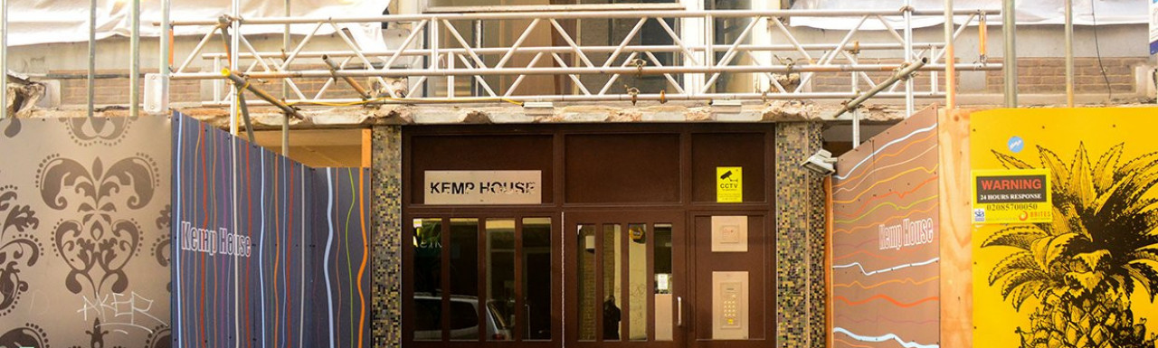 The old entrance to Kemp House.