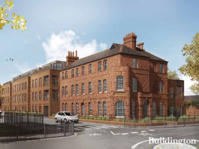 CGI of the development designed by HTA. The development is on the corner of St Ann's Road and Hermitage Road.