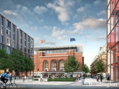 CGI of Hammersmith Town Hall development designed by Rogers Stirk Harbour + Partners.