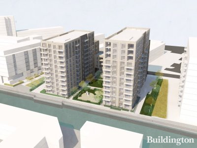 Visual of the Explorer's Wharf development at 42-44 Thomas Road by Stockwool; screen capture from the Design and Access Statement for planning application no. PA/16/01041/A1.