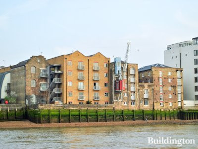 New Archers Court building on the banks of the River Thames.