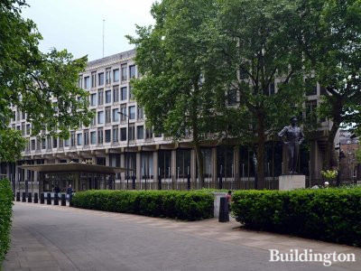 30 Grosvenor Square after the American Embassy has moved out, in 2018.