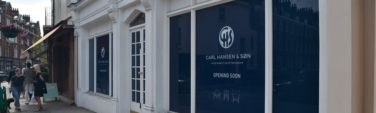 Carl Hansen & Søn passionate craftmanship opening soon at 48a Pimlico Road