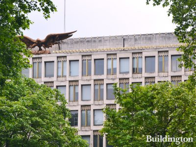 The Eagle sculpture at 30 Grosvenor Square was created by Theodore Roszak.