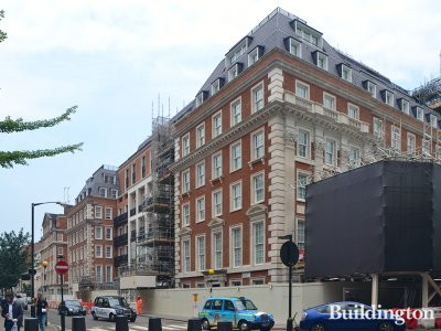 Twenty Grosvenor Square development - North Audley Street elevation.