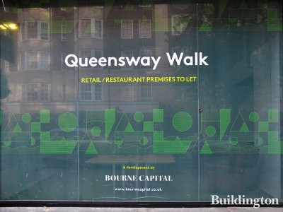 Queensway Walk - retail/restaurant premises advertised by Orme. A development by Bourne Capital.