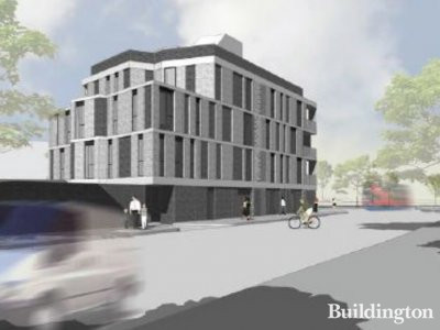CGI of 401 Streatham High Road advertised by Pedder New Homes peddernewhomes.com