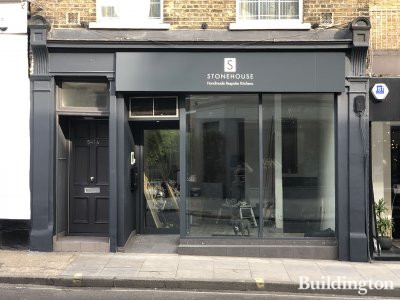 Stonehouse bespoke kitchen company showroom at 541a King's Road in Chelsea - stonehousefurniture.co.uk