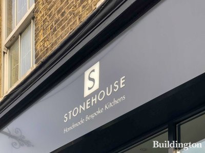 Stonehouse bespoke kitchen company showroom at 151a King's Road in Chelsea, London SW10.