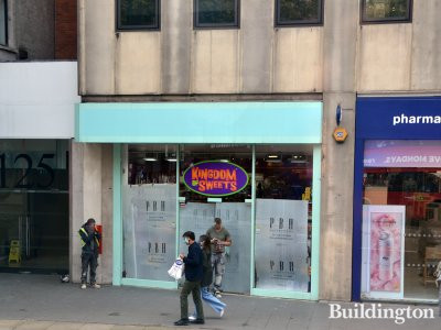 Kingdom of Sweets about to be opened at 127 Kensington High Street.