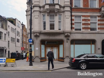 20 North Audley Street commercial premises on the ground floor.