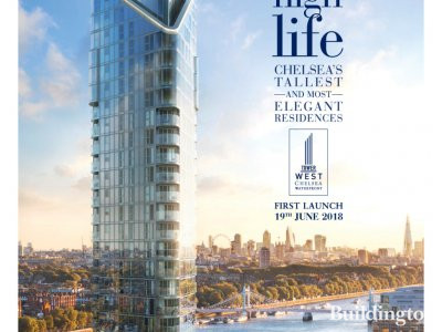 Tower West at Chelsea Waterfront advert in Homes & Property, Evening Standard 30.05.2018