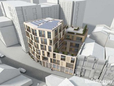 CGI of 2-7 Stockwell Green designed by pH+ architects.