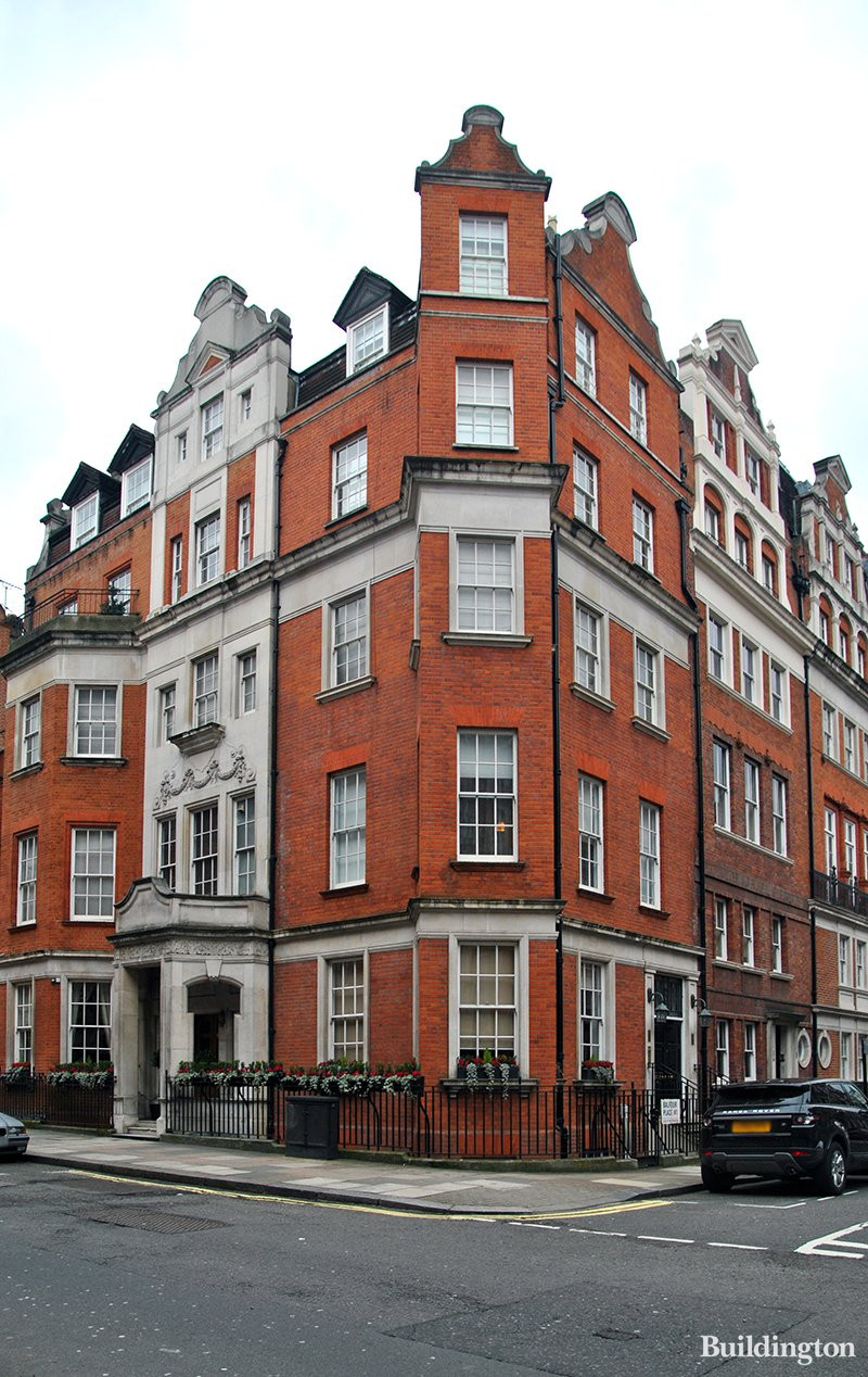 6 Balfour Place building in Mayfair, London W1.