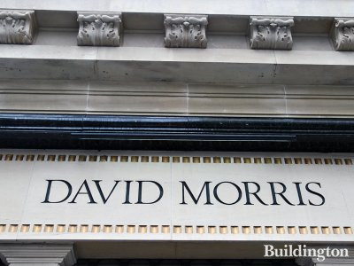 David Morris on New Bond Street in Mayfair, London W1.