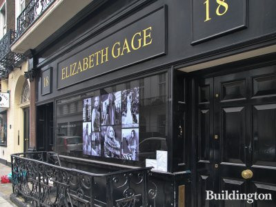 Elizabeth Gage jewellery store at 18 Albemarle Street in 2013 (now closed at this location).