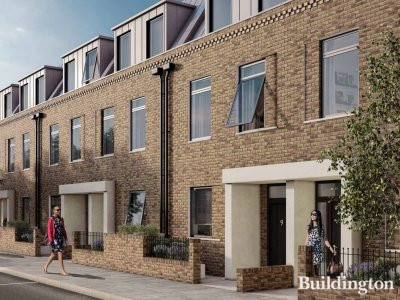 CGI of King's Holt Terrace in Kensal Rise, London W10; ecoworldlondon.com