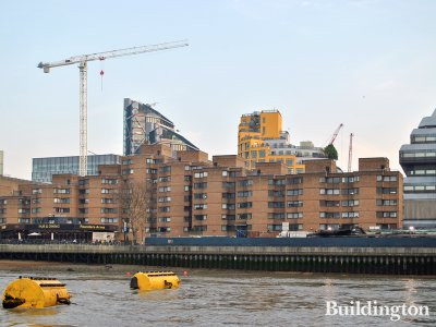 Falcon Point apartments overlooking the River Thames in London SE1.