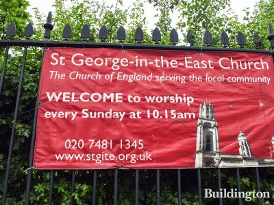 St George-in-the-East Church - The Church of England serving the local community. Welcome to worship every Sunday 10.15am www.stgite.org.uk