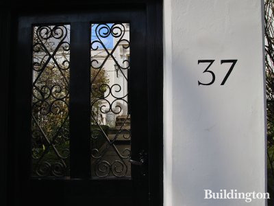 Gates at 37 Blomfield Road in London W9.