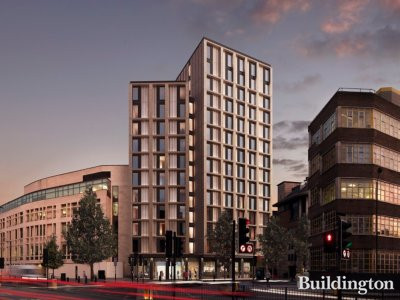 CGI of the new building for 191 Old Marylebone Road in Marylebone designed by Sheppard Robson.