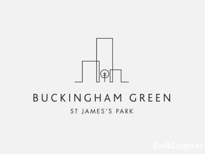 Logo of the Buckingham Green development in Victoria, London SW1.