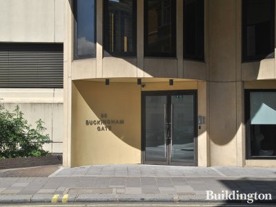 Entrance to 85 Buckingham Gate office building.