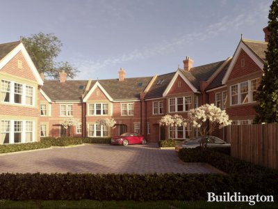 CGI of Hideaway Mews in Chiswick, London W4.