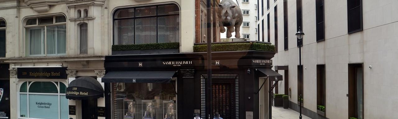 Samer Halimeh New York store at 161 Knightsbridge.