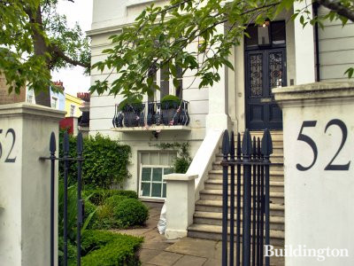 52 Chepstow Villas building in Notting Hill, London W11