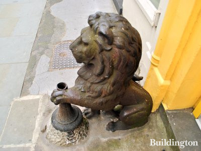 The lion guard at 203 Westbourne Grove in London W11.