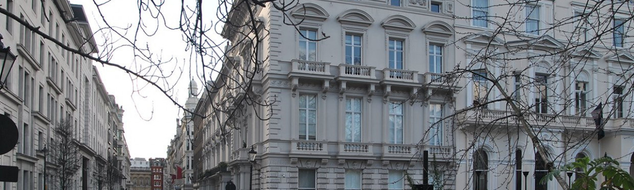 View to 1 King Street building from St James's Square in London SW1.