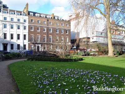 View to Chatham House from St James's Square in London SW1.