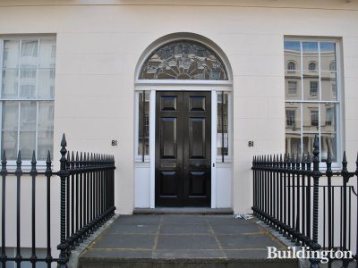 Entrance to 81 Portland Place in 2012.